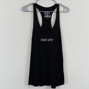 "Peace Love World ""I Feel You"" Graphic Tank Top S"